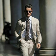 Something light for the summer, although not sure about the wallet chain with a suit?
