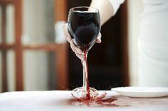 Wijn vlekken verwijder je zo!