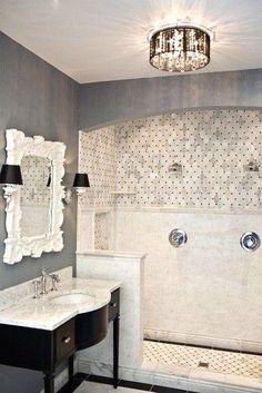 Door less stand up shower