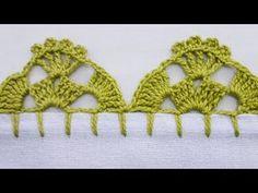 Crochet Boarders, Crochet Lace Edging, Crochet Doilies, Crochet Blanket Patterns, Crochet Stitches, Embroidery Stitches, Embroidery Patterns, Crochet Videos, Crotchet