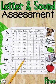 Letter Assessment, Literacy Assessment, Letter Sound Activities, Alphabet Activities, Toddler Activities, Learning Activities, Kindergarten Literacy, Preschool, Teaching The Alphabet