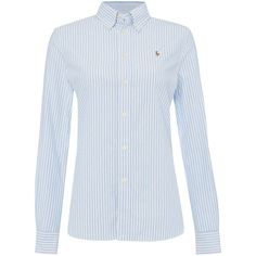Polo Ralph Lauren Harper long sleeve bengal stripe shirt (1.050 NOK) ❤ liked on Polyvore featuring tops, blue, women, blue long sleeve top, long sleeve woven shirt, blue cotton shirt, bengal stripe shirt и long sleeve cotton shirt