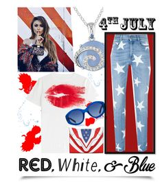 """Red, White and Blue Fashion"" by ladygroovenyc ❤ liked on Polyvore featuring Ice, STELLA McCARTNEY, Maison Margiela, The Row, Elena Ghisellini, redwhiteandblue and july4th"