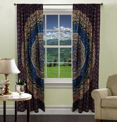 Curtains – Hippie Tapestry Door Curtain Window Wall Curtains – a unique product by LindasJewelryStuff on DaWanda