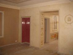 Der Innenbereich. Von der Farbgestaltung,Wandveredelungen in Stucco, bis zur Illusionsmalerei bzw. feinster Ornamentik.
