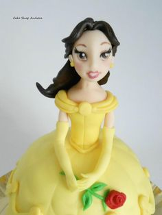 princess Belle from Beauty and the beast d cake