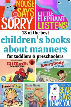 13 children's books about manners that are great for toddlers and preschoolers