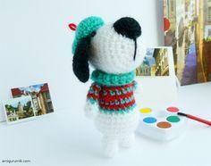 Как Связать Собачку Крючком Схема The scheme Amigurumi Dogs in a beret and sweater