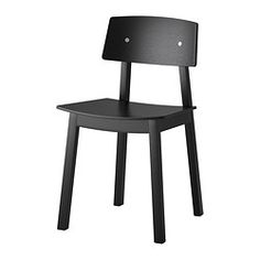 """SIGURD chair, black Tested for: 220 lb Depth: 18 1/8 """" Height: 30 3/4 """" Tested for: 100 kg Depth: 46 cm Height: 78 cm"""