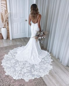 27 Bridal Inspiration: Country Style Wedding Dresses ❤ country style wedding dresses backless with spaghetti straps lace essenseofaustralia #weddingforward #wedding #bride #weddingoutfit #bridaloutfit #weddinggown