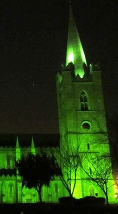 The world is going green for St. Patrick's Day: St Patrick Cathedral, Dublin, Ireland  #GoGreen4PatricksDay | Jump Into Ireland|
