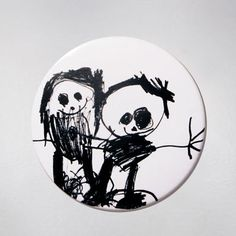 Badge - Little People - Black. Łucja - she is a young artist but we can't be indifferent to her creativity :) $9 zł.