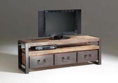 La modernidad y el reciclaje aunados en un mueble para TV.