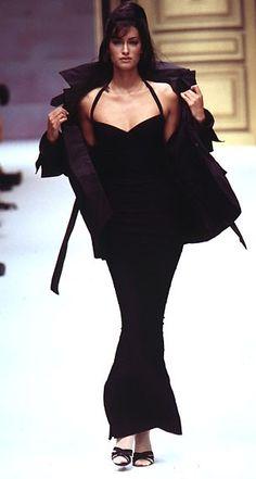Yasmeen Ghauri  - Herve Leger 1996
