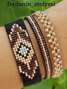 off loom beading techniques Loom Bracelet Patterns, Bead Loom Bracelets, Bead Loom Patterns, Weaving Patterns, Jewelry Patterns, Jewelry Bracelets, Seed Bead Jewelry, Beaded Jewelry, Handmade Jewelry
