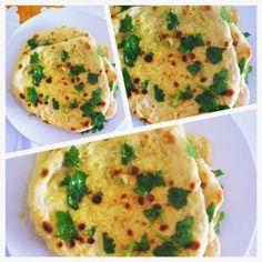 Tofu e muito mais: Pão Naan com Alho e Coentros
