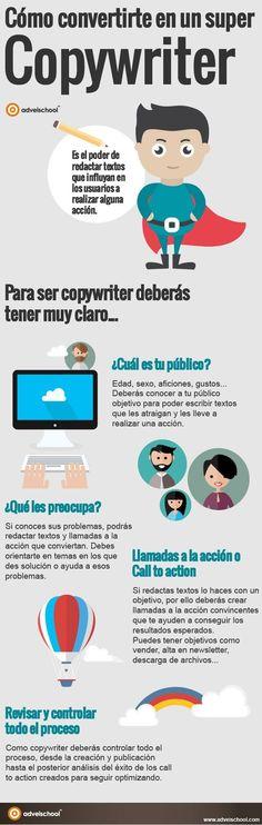 Cómo convertirte en un super copywriter #infografia