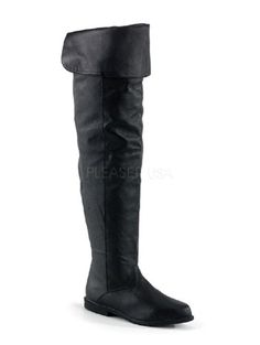 Flat Renaisance Black Thigh High Leather Boots * Check out the image by visiting the link.