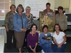This group of lovely ladies is from First Baptist Church of Roanoke, Virgina. The groups' leader, Bev Motley sent in two photos. One groups meets on Tuesdays mornings while the other meets on Tuesday evenings.