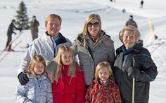 Fotosessie Lech 2013, Maxima draagt voor de eerste keer in de wintersessie dezelfde kleding.