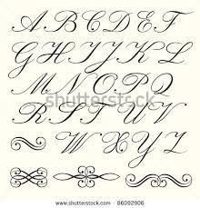 Resultado de imagen de calligraphy alphabets