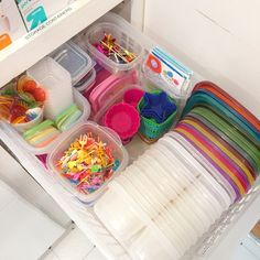 I've got 10 boxes and even more lids in this tight little space - no other lunch container could do that.