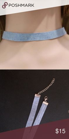 Denim Thin Choker Brand new.  NOT FROM NASTY GAL Before leaving a comment: 🌹No trades 🌹Use the offer button for offers 🌹No lowballs or rude comments 🌹Item is unbranded 🌹I only sell on posh 🌹I do not model 🌹I only have the sizes/colors listed 🌹I ship same day or next day 🌹If I don't respond, it's because your question was answered here! Nasty Gal Jewelry Necklaces