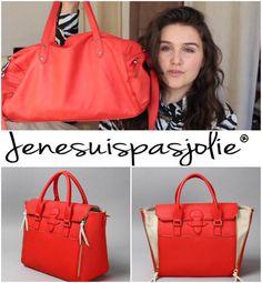 La jeune YouTubeuse Jenesuispasjolie a testé le sac Jade en paprika & elle fait gagner le sac Sofia en rouge ! Pour participer, RDV sur sa chaîne YouTube !  CODE PROMO : Jenesuispasjolie !  <3