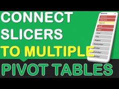 Multiple Excel Pivot Tables - How to add multiple Pivot Tables from the same data set and connect a Slicer to all of the Pivot Tables.