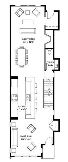 Planos casa dos pisos angosta y larga [Diseño] | Construye Hogar