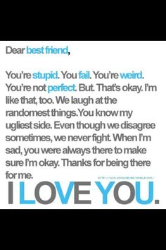 Write this on a card for your best friend this chrismas!