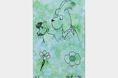 "Artmoney - unique piece of art doubling as a gift card ""Green money 5"""