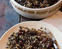 This Wild Rice with Cherries and Morels recipe pairs wild rice, brown rice and basmati with dried cherries and morels.