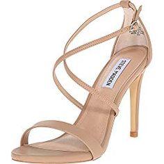 Steve Madden Women's Feliz Dress Sandal, Natural, 9 M US