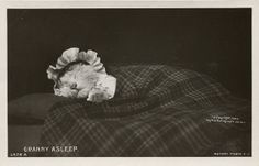 granny asleep by the ghost of me, via Flickr