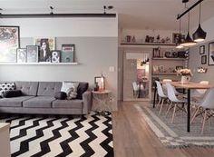 Home Decoration For Wedding Refferal: 4423519235 Narrow Living Room, Home Living Room, Living Room Designs, Living Spaces, Home Decor Furniture, Cheap Home Decor, Mari Palma, Decoration, Sweet Home