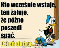 Disney Characters, Fictional Characters, Jokes, Polish, Smile, Humor, Funny, Pictures, Good Morning Funny
