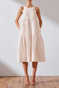 Buy plus size linen dresses and Sleeveless dress, sleeveless sundress, linen dress Casual Summer Dresses, Modest Dresses, Short Dresses, Dresses For Work, Linen Summer Dresses, Midi Dresses, White Linen Dresses, Teen Dresses, Club Dresses