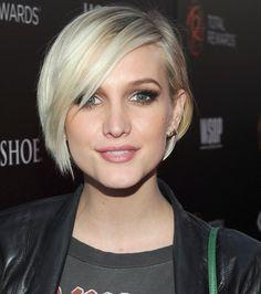 cabelo curto loiro platinado raiz escura - Pesquisa Google