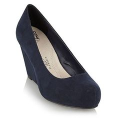 ffcdbe7586f5 Navy wider fit wedge heel shoes - Wide fit - Shoes   boots - Women -