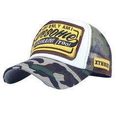 Camping Hair Cubism Cat Unisex Adult Adjustable Trucker Dad Hats