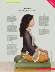 """""""Being present is the actor's job. Being aware of your body, in space, and the emotions that are occurring inside, is essential. Well, quite simply, the more aware one is—of yourself, of your surroundings, of other people—the more likely you are to respond truthfully.""""- Sandra Oh, introducing Mindful's Getting Started series in the April issue, on newsstands soon."""