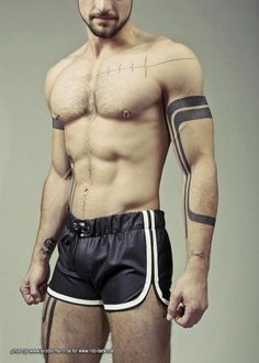 I like the idea of defining the shape of my body with bold black line tattoos. But ideally I would have a models body.