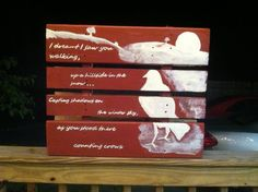 gotta have this too!! Counting Crow's lyric Pallet. $25.00, via Etsy.