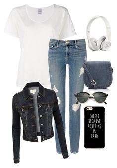 """""""Untitled #344"""" by louistomlinson2 on Polyvore featuring Visvim, Frame Denim, Beats by Dr. Dre, Ray-Ban and LE3NO"""