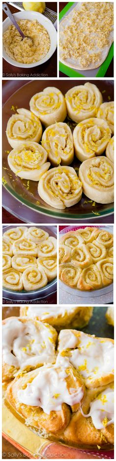 Fluffy and soft Lemon Sweet Rolls topped with Cream Cheese Frosting. You will fall in love with their sunshine-sweet flavor! by @sallybakeblog