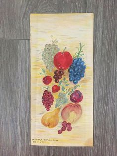 Fruit Painting Theorem Painting Vintage Painting Original