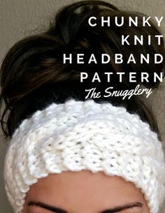 Free Chunky Cable Knit Headband Pattern This is a super simple pattern using super bulky yarn. I recommend wool or a wool blend yarn like Wool-Ease Thick & Quick from Lion Brand for added stretch. Knitting Patterns Free, Free Knitting, Crocheting Patterns, Pattern Sewing, Loom Patterns, Knitting Ideas, Crochet Pattern, Knit Or Crochet, Crochet Hats