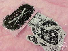 ☽ Witchy Stickers ☾ - - - - - - - - - - - - - - 21 handmade stickers [ ink on paper // 2015 ]  ▽ a series of 21 witchy stickers !! inevitable to