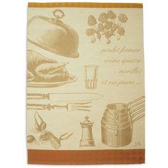 Le Jacquard Français Poulet Aux Morilles Tea Towel | Sur La Table